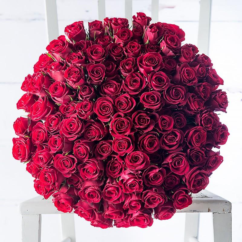 100 red roses by Appleyard London- valentines flowers