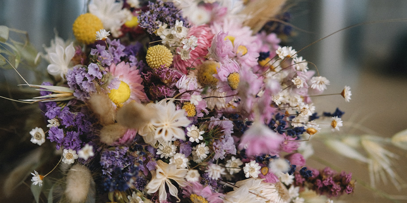 Preserving Your Bouquet: How to Dry & Press Flowers