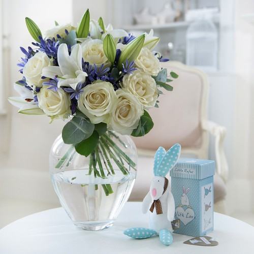 Baby Boy Gifts Flowers : New baby flowers for a appleyard