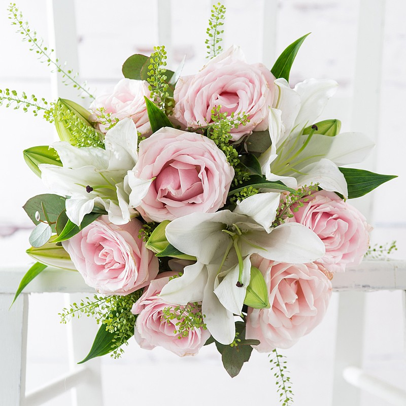 Birthday Flowers London: Simply Pink Rose & Lily